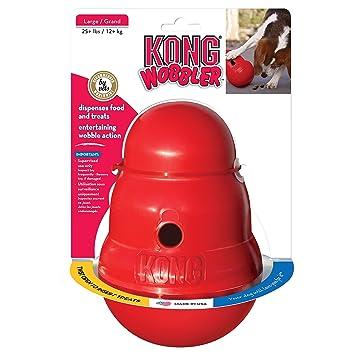 Amazon Com Kong Wobbler Treat Dispensing Dog Toy Large Pet Chew