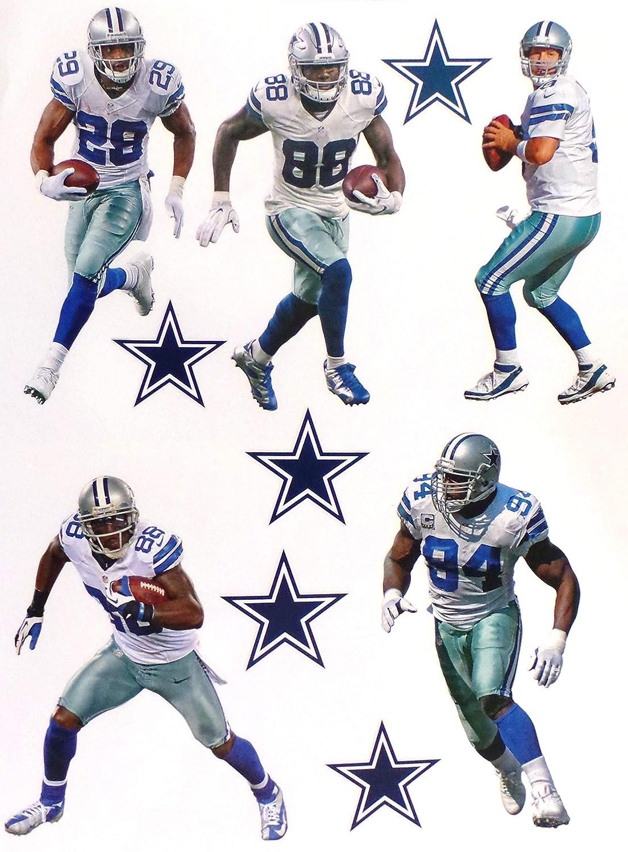 d6c3374c Dallas Cowboys Mini FATHEAD Team Set Official NFL Vinyl Wall Graphics (5  Players + 5 Cowboys Logo), EACH PLAYER 7