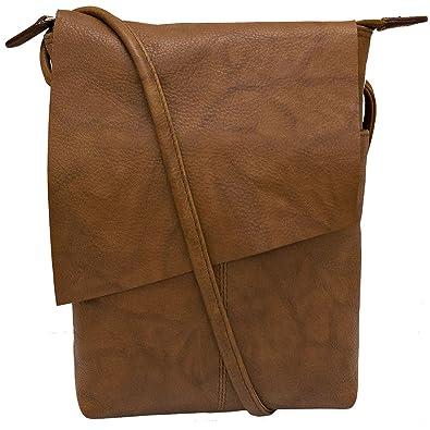 51240c1e28 ili New York 6647 Leather Mini Sac Flap Crossbody (Antique Saddle ...