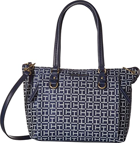 Tommy Hilfiger Womens Kelby Shopper Navy/White One Size: Handbags: Amazon.com