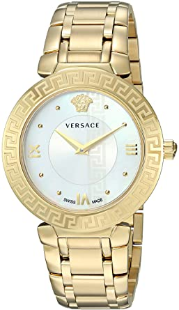 717ba889b Versace Women's DAPHNIS Swiss-Quartz Watch with Gold-Plated-Stainless-Steel  Strap