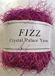 Crystal Palace Fizz Eyelash Yarn #7304 Hot Pink 50 gram 120 yards