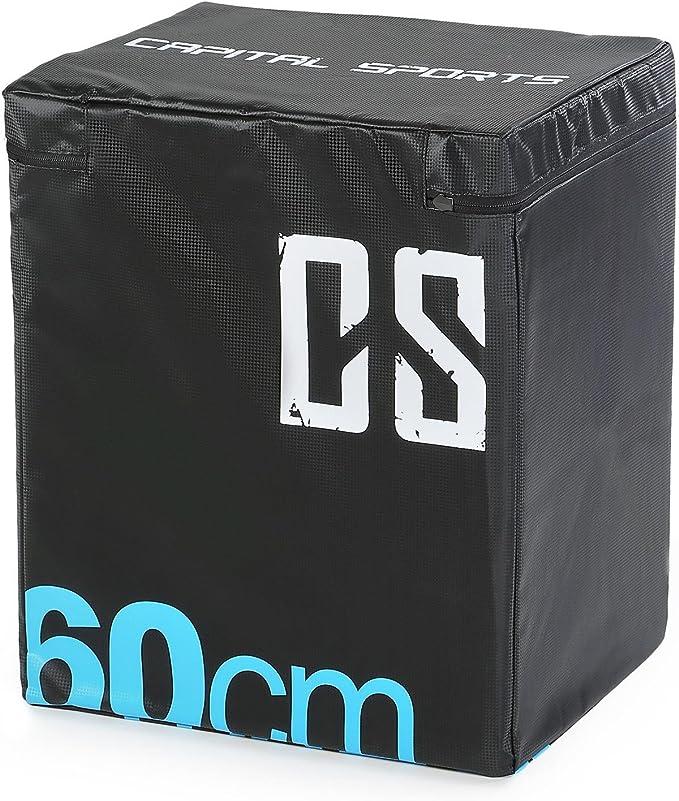 CapitalSports Rooksy Caja de Salto pliométrica Suave 60x50x30 cm (Robusta para Entrenamiento de Salto y Cross, Estable Interior, Suave Revestimiento, ...