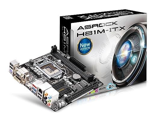 20 opinioni per Asrock H81M-ITX Scheda Madre, Nero