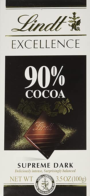 Image Unavailable Not Available For Color Lindt Excellence 90 Cocoa Bar Supreme Dark