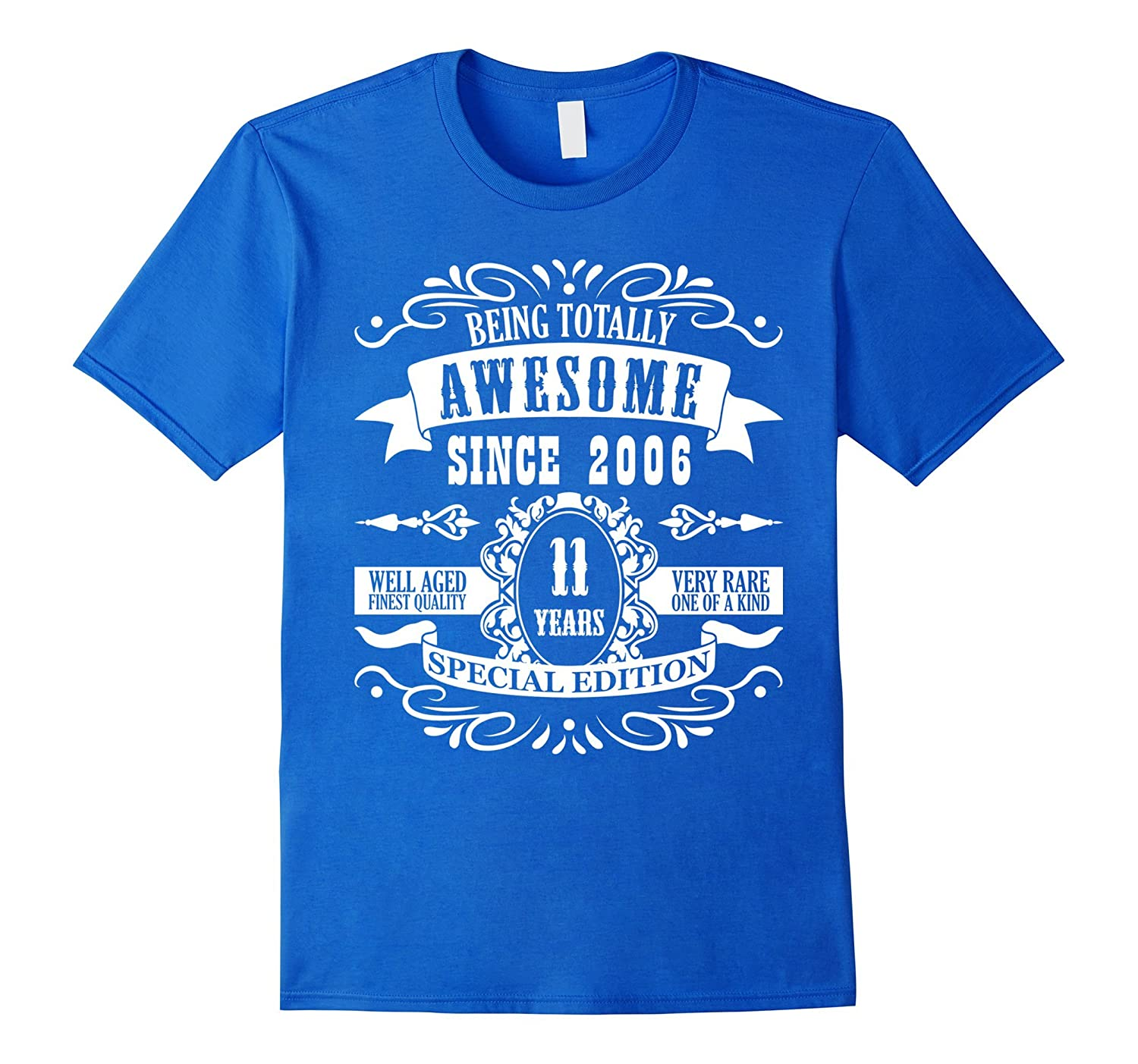 11th Birthday Gift T-Shirt Awesome Since 2006 Tee 11 yr olds-Vaci