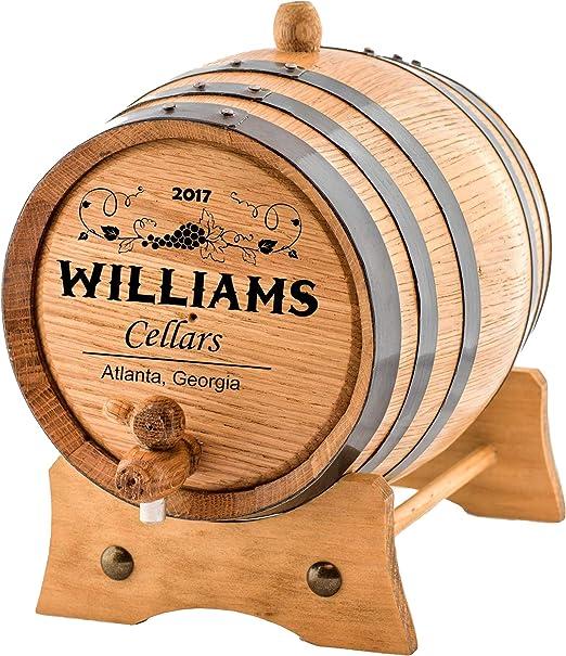 Personalized 2 Liters Barrel Aged Custom Wine Oak Aging Barrel