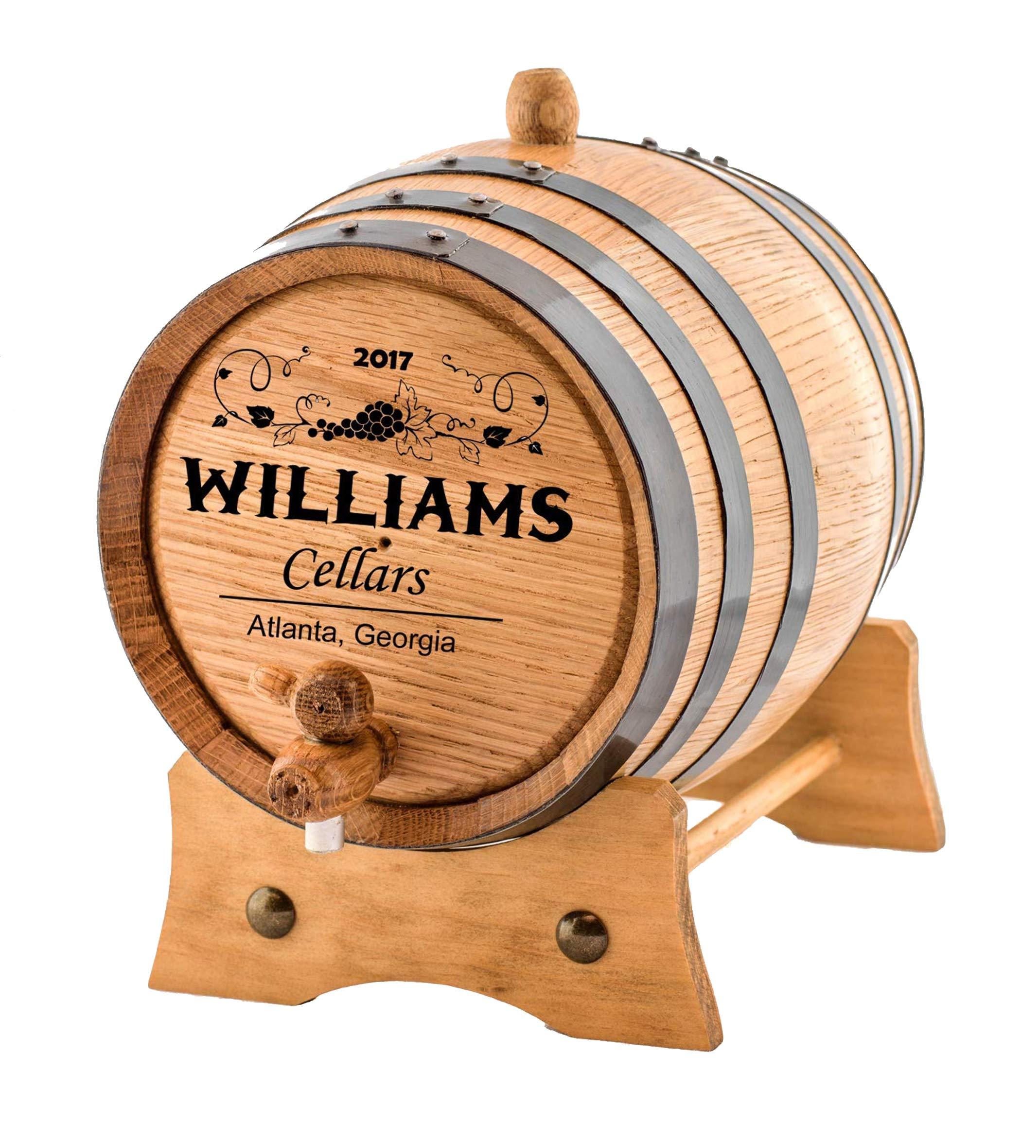 Personalized - Custom Wine Oak Aging Barrel - Barrel Aged (10 Liters) by Sofia's Findings