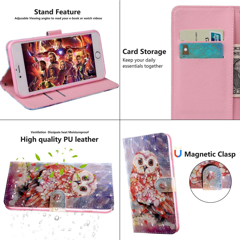 Hibou 3D Bling Surface TOUCASA Coque pour Huawei P Smart Z Coque Cuir PU Portefeuille /à Aimant Coque Rabat Portefeuille Housse /Étui de Protection