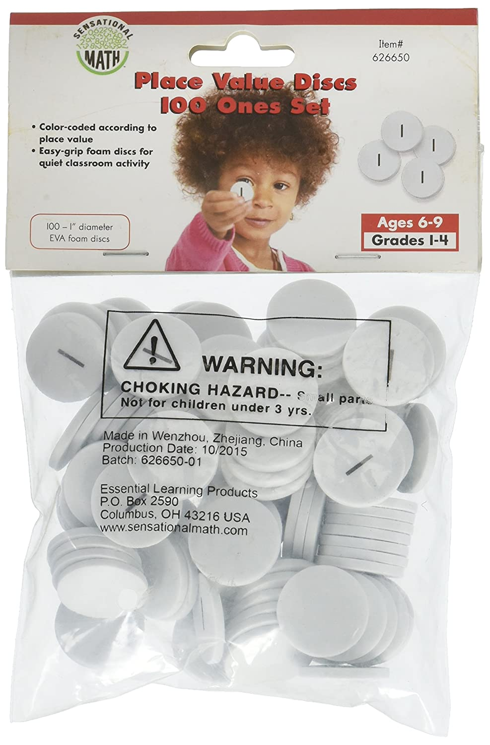 Essential Learning Products 100 Ones Place Value Discs Set