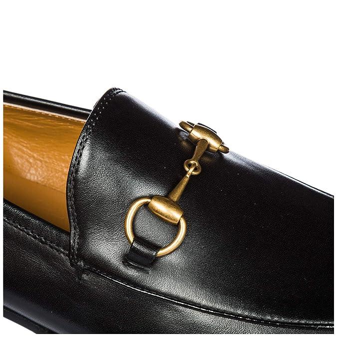 Gucci Mocasines en Piel Mujer Nuevo Jordaan Negro: Amazon.es: Zapatos y complementos