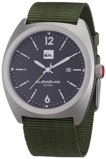 Quiksilver M146JW 44T - Reloj analógico de caballero de cuarzo con correa textil verde: Amazon.es: Relojes