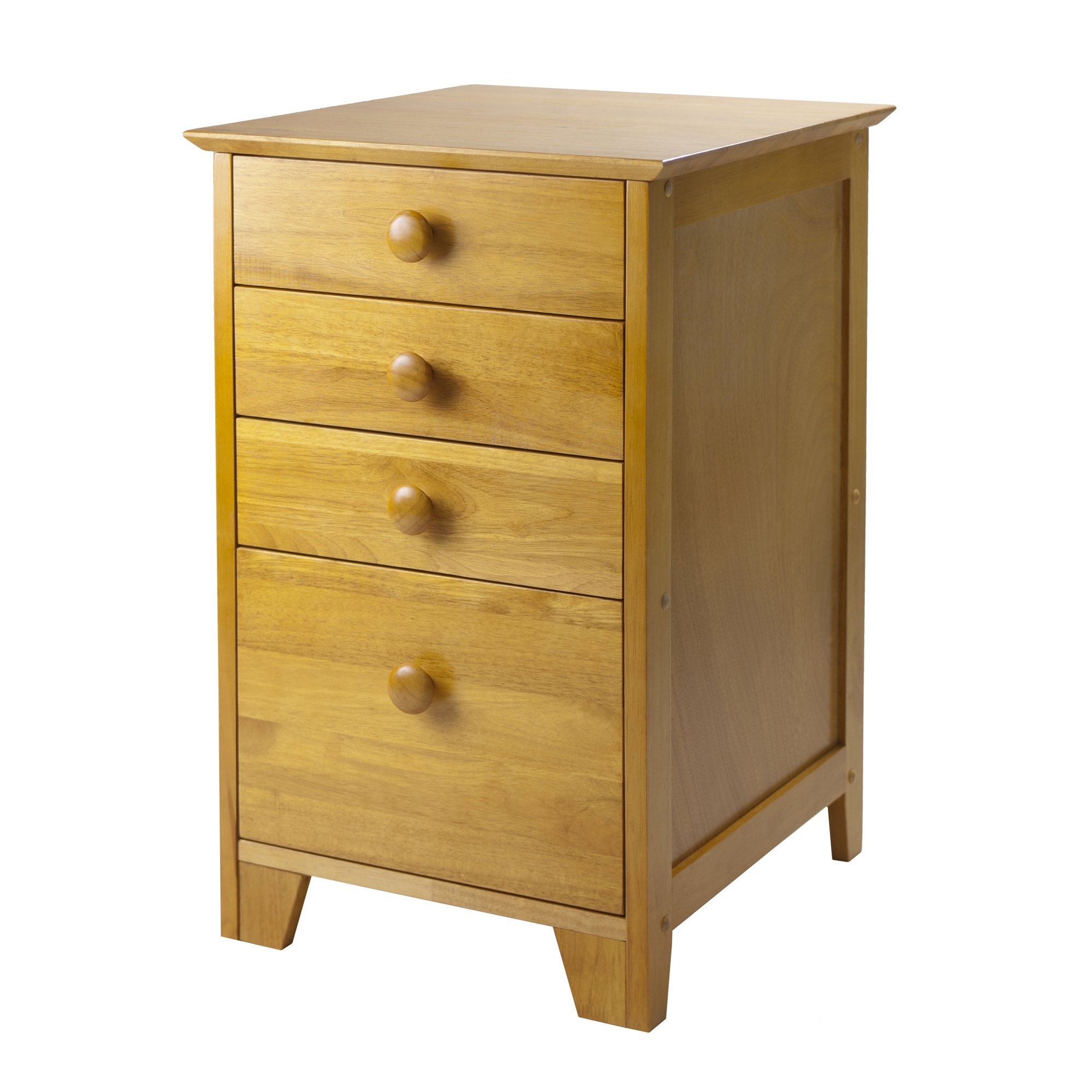Winsome Wood Honey Pine Filing Cabinet - Extra Storage Drawers by Winsome Wood