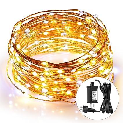 amazon com 39ft 120 leds string lights waterproof stripsun copper