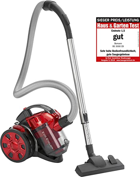 Bomann BS 3000 CB aspirador, 700 W, Plástico, Rojo: Amazon.es: Hogar