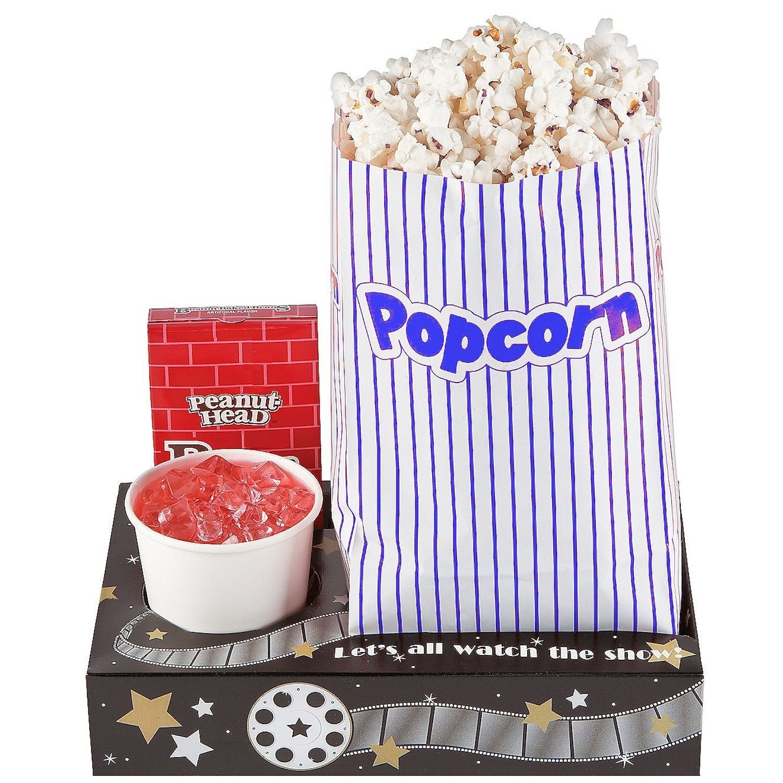 Fun Express Hollywood Movie Night Snack Trays (1 dozen)