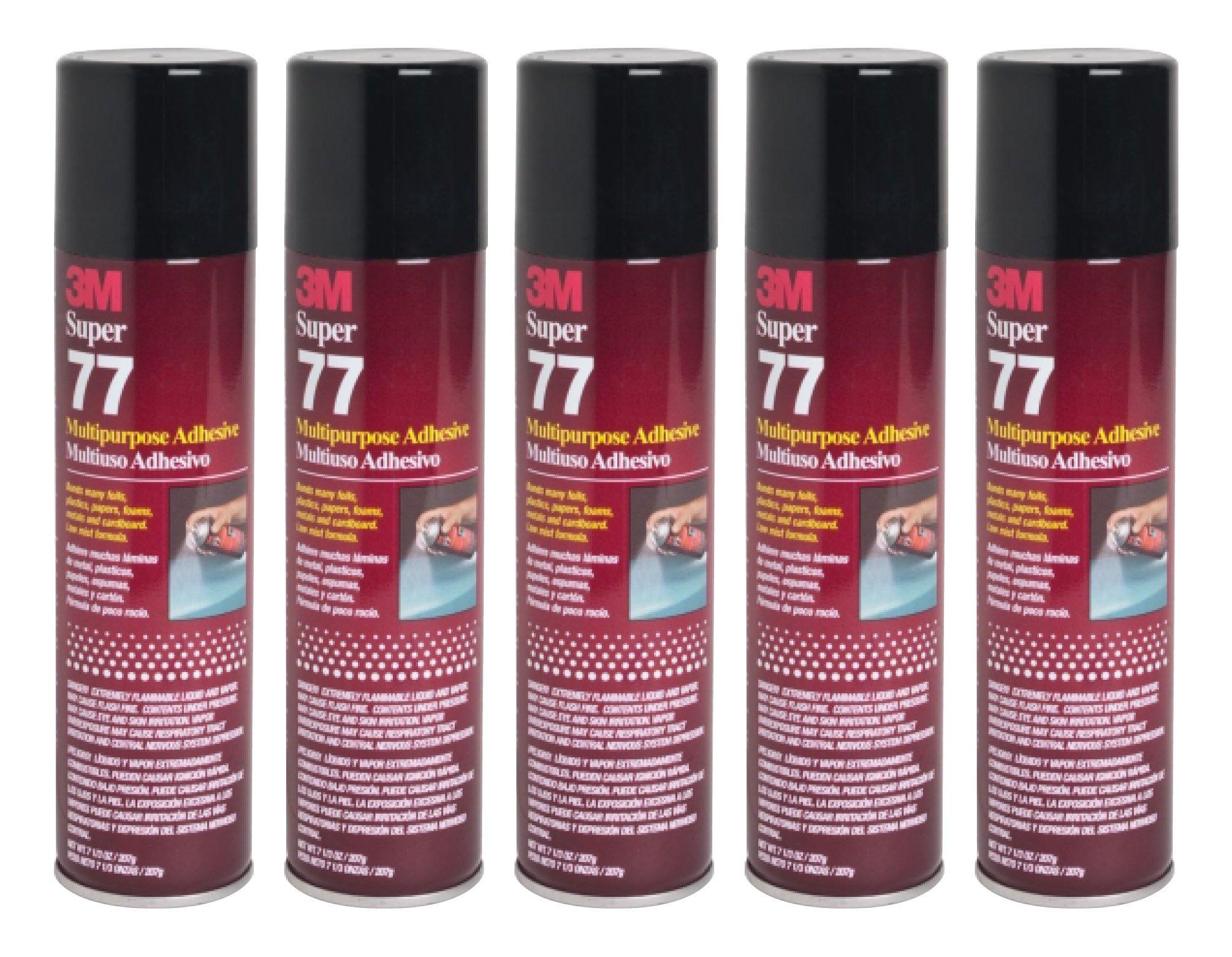 QTY5 3M SUPER 77 7.3oz LARGE SPRAY GLUE ADHESIVE for SPEAKER BOX ENCLOSURE by 3M SUPER 77