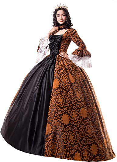 Renaissance Queen Elizabeth I/Tudor Gothic Jacquard Fantasy Dress Game of  Thrones Gown Halloween Costumes