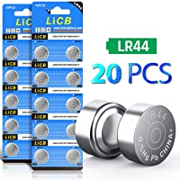 LiCB 20 Pack LR44 AG13 357 303 SR44 Battery 1.5V Button Coin Cell Batteries