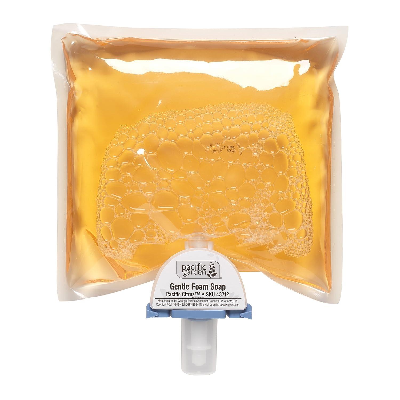 Georgia-Pacific Pacific Garden 43712 Pacific Citrus Gentle Foam Soap (4 Cartridges of 1200mL)