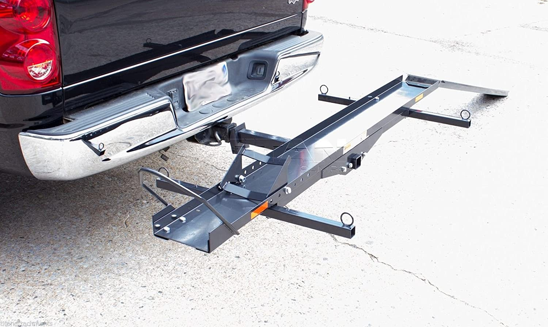carrier ramp. amazon.com: sport bike motorcycle carrier rack hitch hauler ramp truck cargo 600lb capacity: automotive y