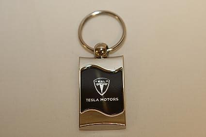 Tesla Keychain & Keyring - Black Wave
