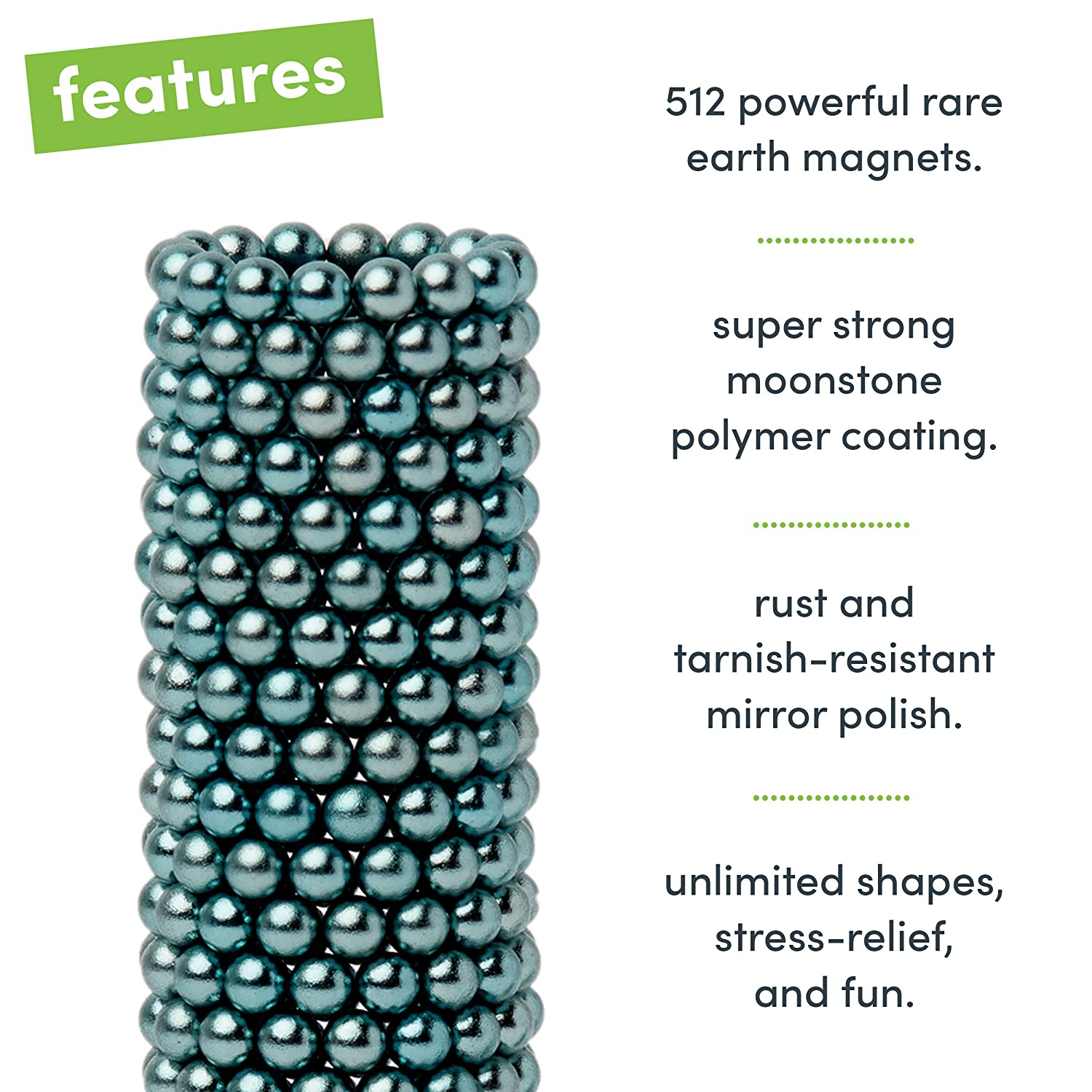 - Fun Stress Relief Desk Toy for Adults Mashable Smashable Buildable Speks Magnetic Balls Luxe Silver Set of 512 2.5mm