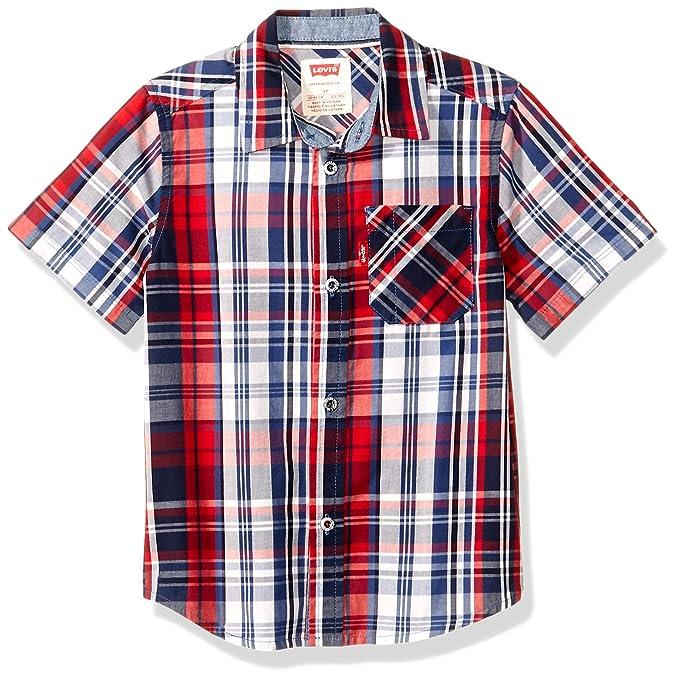28140289c9 Levi s boys Kirkwood Woven Plaid Shirt  Amazon.ca  Clothing ...