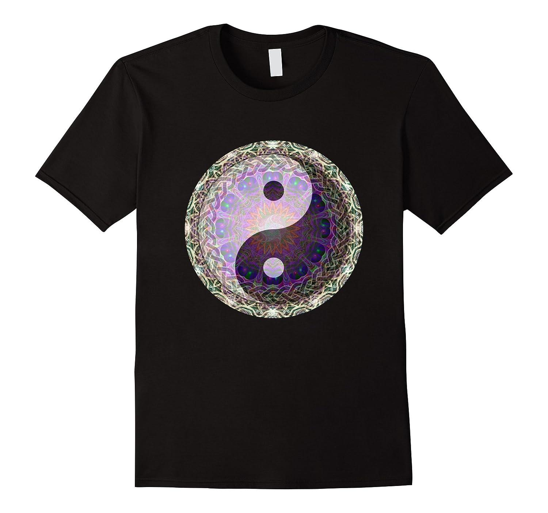 Yin Yang with Sun Mandala T Shirt by Amelia Carrie-TH