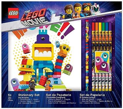Amazon Com Iq The Lego Movie 2 Duplo Sketchbook Stationery Set Toys Games