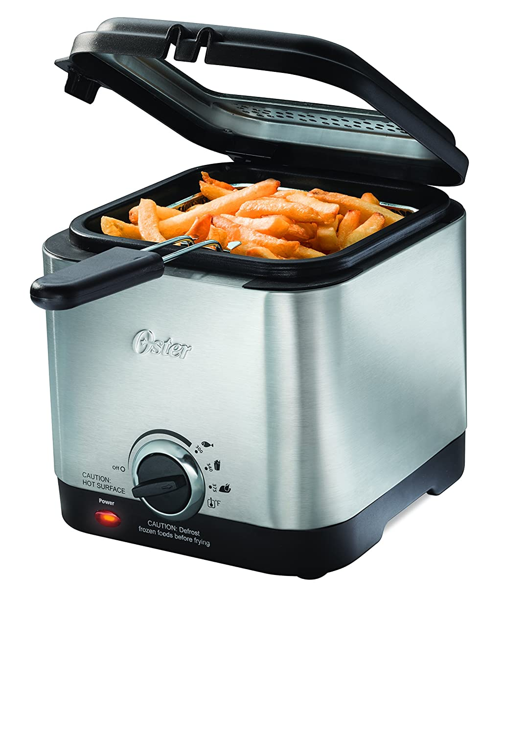 Amazon.com: Oster CKSTDF102-SS Compact Style Stainless Deep Fryer ...