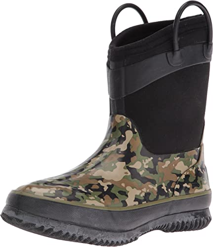 ,Black//Olive,4.5 Mountain Gear Grade D Day Camo Boot Big Kid