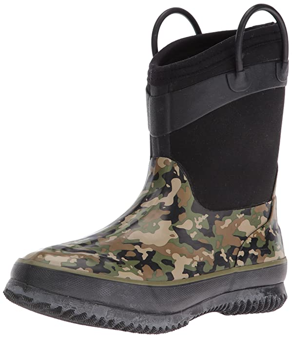 Western Chief Boys' Neoprene Snow Boot, Olive Camo, 13/1 M US Little Kid