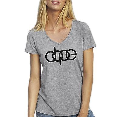 Friendly Bees Dope Dopest Audi Fun Artwork Grau T-Shirt für Damen mit V-