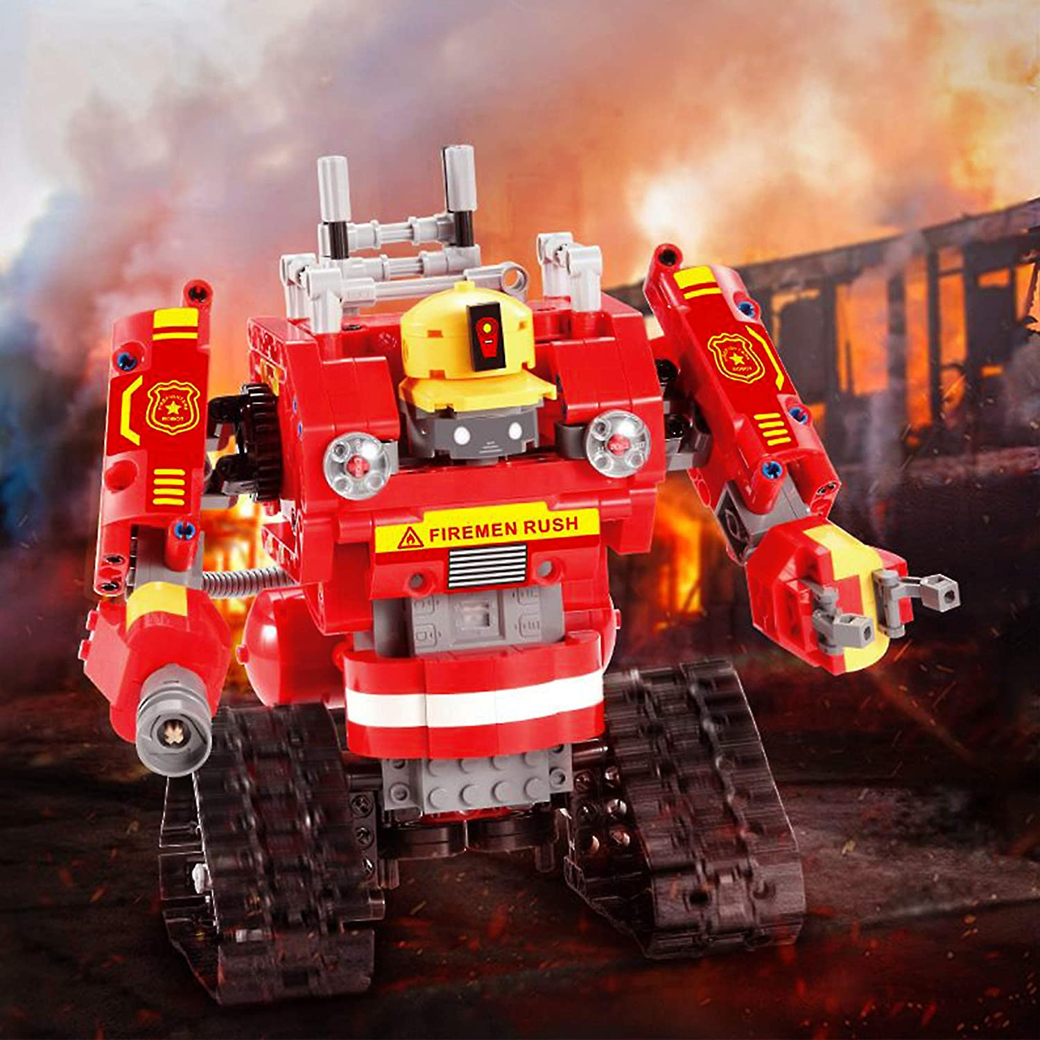 Toys Innovate STEM Building Toys Engineering Kit Toy Building Blocks Sets for Boys and Girls 6 7 8 9 10 Year Old Cars and Robots on Remote Control Fireman