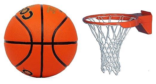 PLANET 007 - Balón de Baloncesto (tamaño 7) con Red de Nailon para ...