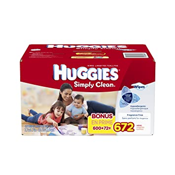 Huggies Simply Clean Fragrance Free Baby Wipes Refill, 672 Count