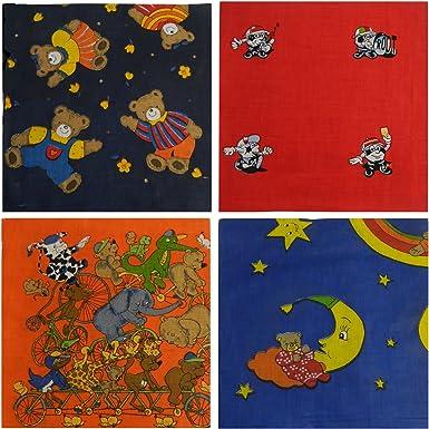Pañuelos para niños pack 4 bandanas 50 x 50cm cuello bebé algodón ...