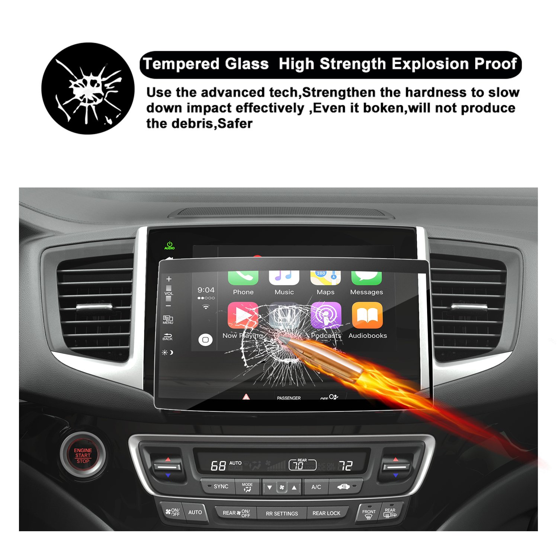 2019 Honda Pilot Navigation Screen Protector Center Touch Display Anti Scratch High Clarity Clear HD Tempered Glass Protective Film 2019 Honda Pilot 8 Inch RUIYA