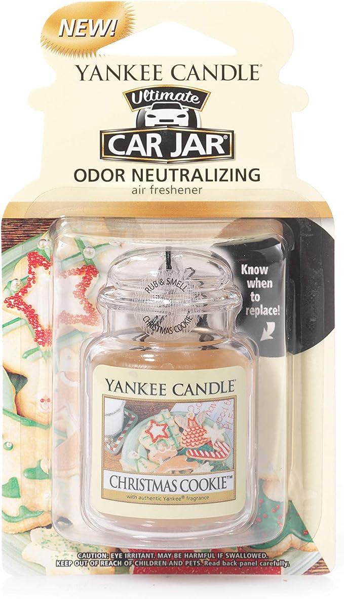 Amazon.es: Yankee Candle 1220899 Ambientador de Aire del Coche, Car Jar Ultimate, Christmas Cookie