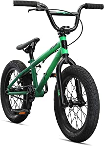 Mongoose Legion Freestyle Sidewalk BMX Bike for-Kids, -Children and Beginner-Level to Advanced Riders, 16-20-inch Wheels, Hi-Ten Steel Frame, Micro Drive 25x9T BMX Gearing