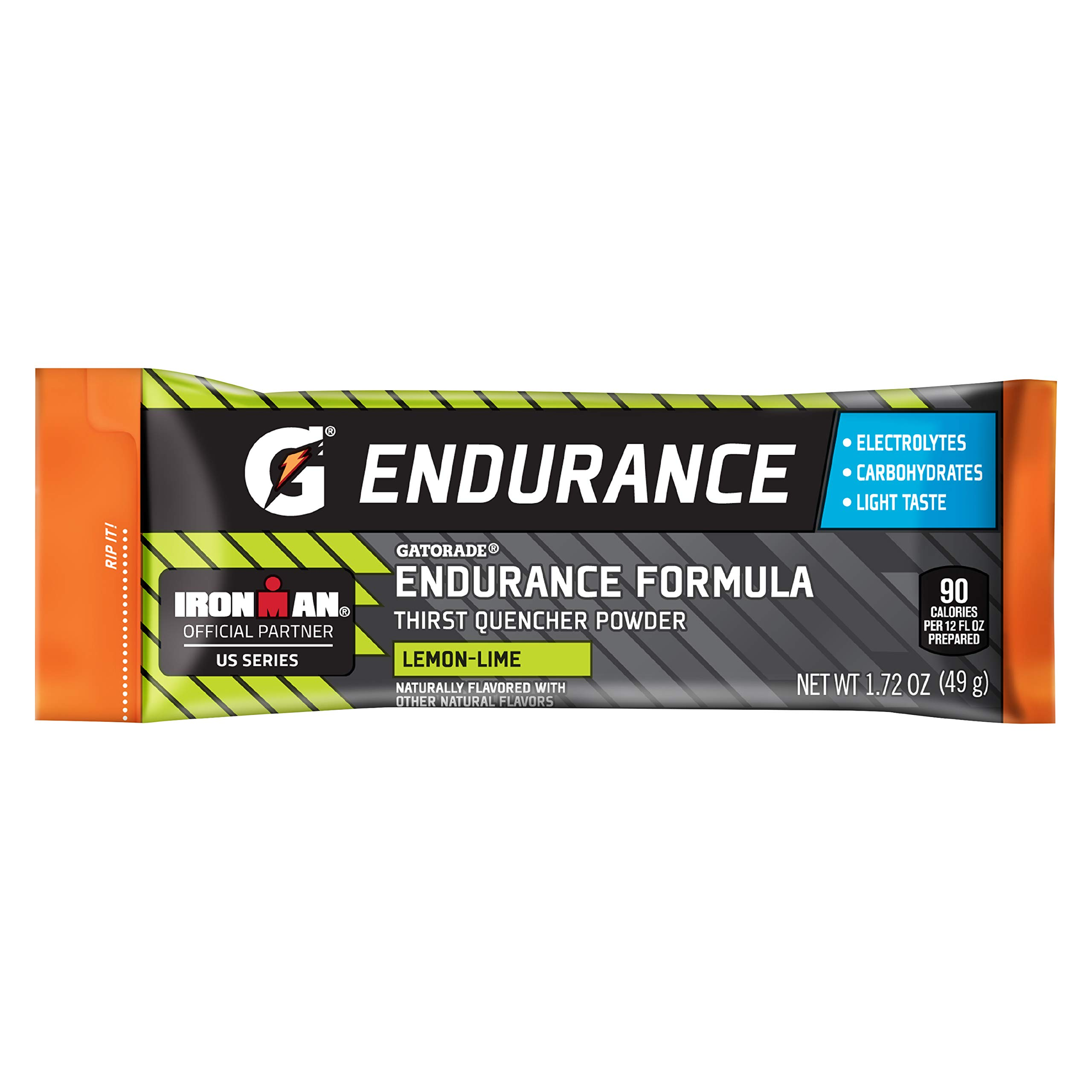 Gatorade Endurance Formula Powder Sticks, Lemon Lime, 1.72 oz. Packs, 12 Count by Gatorade
