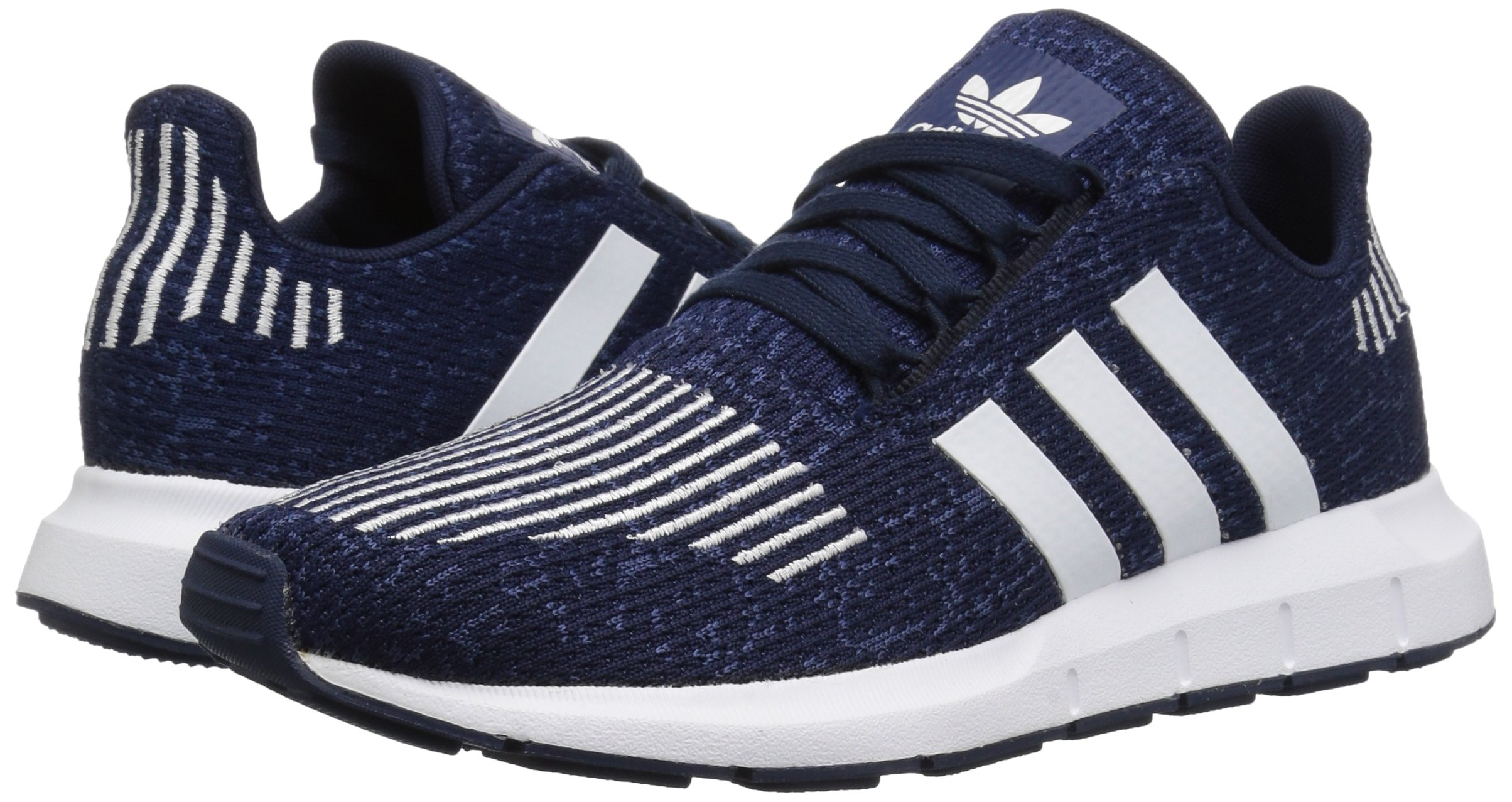 adidas Originals Baby Swift Running Shoe, Collegiate Navy/White/Mystery Blue, 4K M US Toddler by adidas Originals (Image #5)