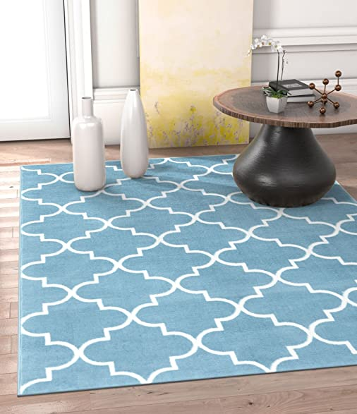 Amazon Daisy Lattice Blue Moroccan Trellis 5 x 7 5 x 7 2