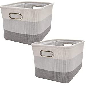Lambs & Ivy Gray Ombre Storage Basket - 2 Pack