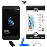 Coolpad Cool Play 6 Tempered Glass + OTG Adapter + Mobile Stand + Audio Splitter - TheGiftKart Super Value Combo
