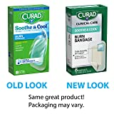 """CURAD Soothe & Cool Burn Bandages, Instant Cooling, 1.8"""" x 2.96"""", 8 count"""