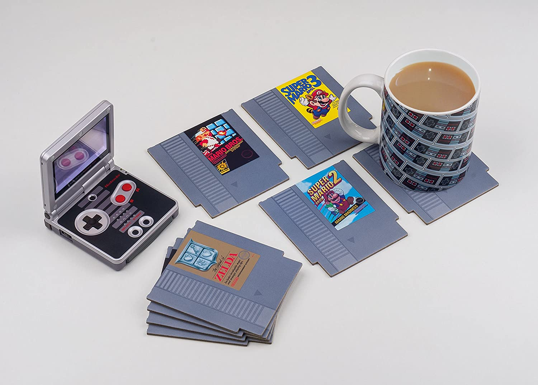8 posavasos con diseños de videojuegos Nintendo por 9,74€