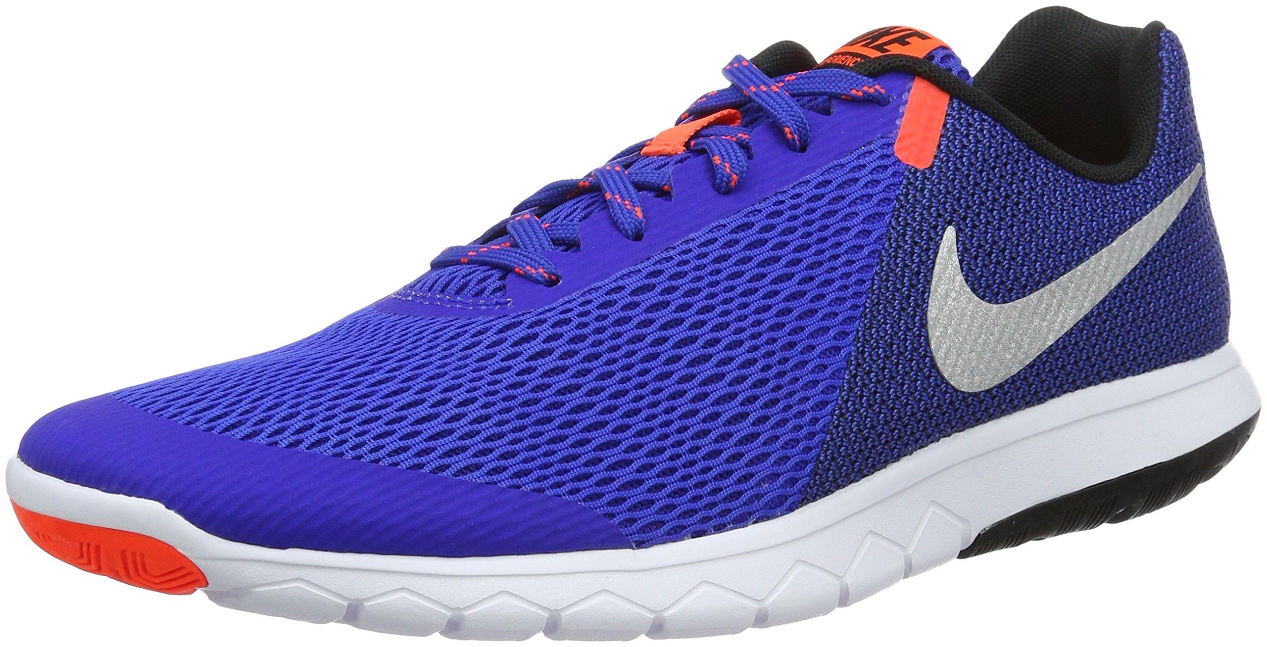 ed430a399ca17 Nike Men's Flex Experience RN 4 (Racer Blue/Metallic Silver/Black/White)  Running Shoe, 9 D(M) US