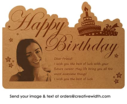 Buy Creative Width Personalized Birthday Wishes for Friend Engraved ...